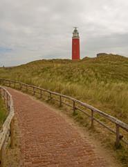 Texel Lighthouse Leutturm mit Gehweg