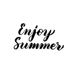 Enjoy Summer Handwritten Lettering
