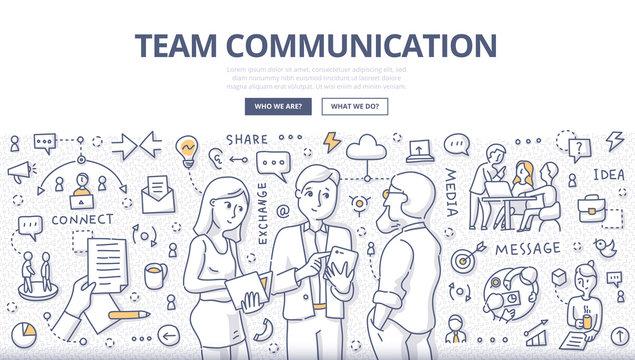 Team Communication Doodle Concept