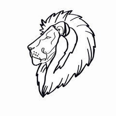 Lion head coloring