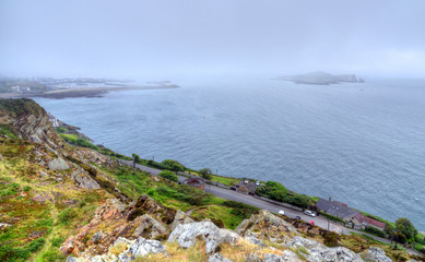 The Howth Cliff Walk outside of Dublin, Ireland.