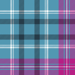 Blue pink check plaid seamless pattern