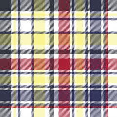Check plaid tartan fabric texture seamless pattern