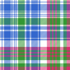 Green blue check tartan plaid seamless pattern