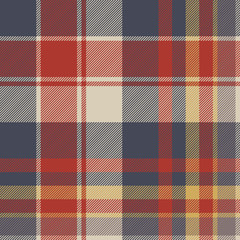 Red blue tartan fabric texture seamless pattern