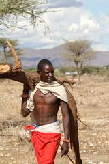 Männer vom Volksstamm der Samburu in Kenia