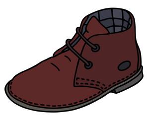Classic wine suede shoe