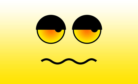 Angry Face Expression illustration on Yellow BG
