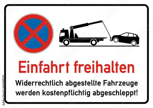 ks206 kombi schild spr69 signparkraum parken verboten einfahrt freihalten. Black Bedroom Furniture Sets. Home Design Ideas