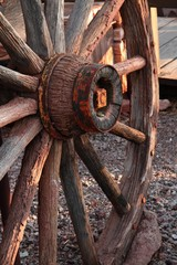 Old West Wagon Wheel