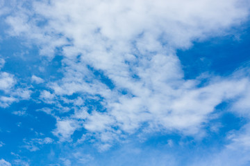 Beautiful blue sky with cloud for background.