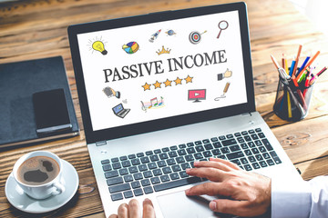 Passive Income Concept On Laptop Monitor