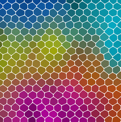 mosaic green blue pink pattern texture background with gray grout
