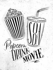 Poster soda popcorn
