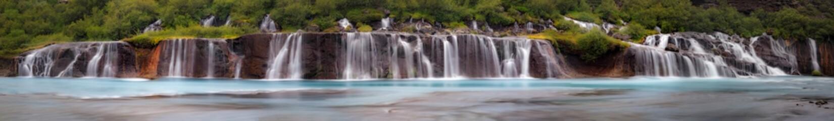 Hraudfossar Waterfall, Iceland