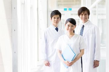 portrait of asian doctor in hospital