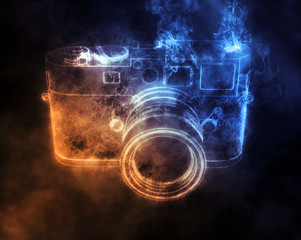 Digital photo camera - smoke FX
