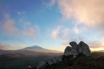 Eagle Megalith Argimusco And Etna Volcano, Sicily Wall mural