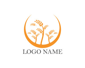Rice and oat logo food