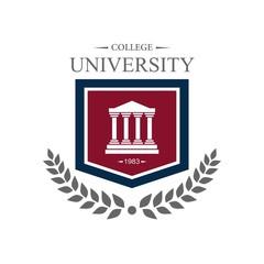University campus logo design template