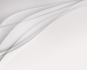 white and gray curves for cosmetic brand