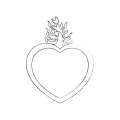 sacred heart icon over white background vector illustration