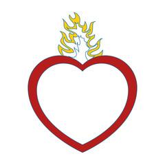 Catholic sacred heart symbol icon vector illustration graphic design