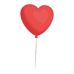 Cute heart balloons icon vector illustration graphic design