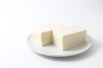 tofu isolated on white background