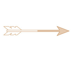 arrow icon over white background vector illustration