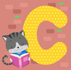 Alphabet Tile Cat Read