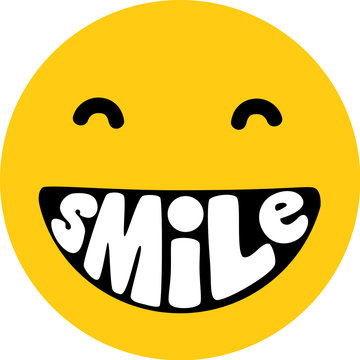 Smile Lettering Smiley
