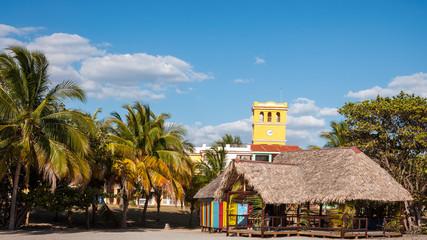 Tropical beach called  'Playa Ancon' in Caribbean Island of Cuba