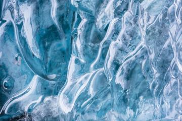 ice textured wall background in the cave at Vatnajokull Glacier Jokulsarlon Iceland.