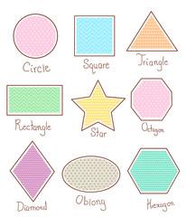 Cute Geometric Shapes Illustration