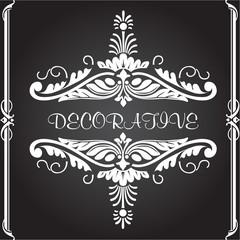 Decorative floral design elements and vector ornaments