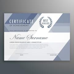 geometric certificate award template vector design