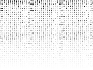 Vector Illustration of abstract big data numeric business background