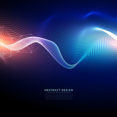 technology digital background in wavy futuristic style
