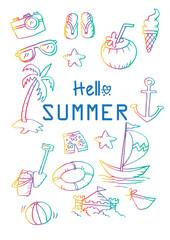 Sketch design element summer