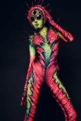 Creature plastic art dance
