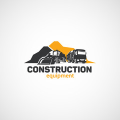 Construction Equipment, Loader and Truck.