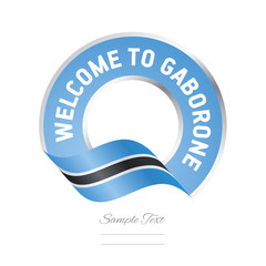 Welcome to Gaborone Botswana flag logo icon