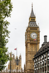 Beautiful view of Big Ben Clock Tower with the Parliament House behind, London, England