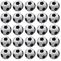 Background of soccer balls