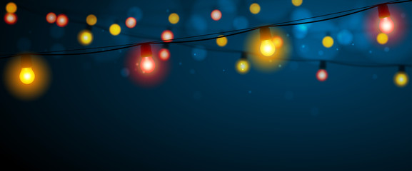 Guirlandes lumineuses vectorielles 2 Fototapete