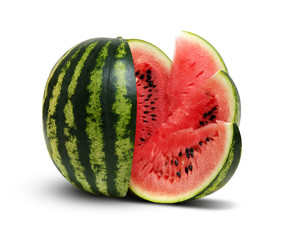 watermelon isolated on white background.