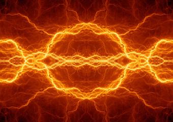 Fire lightning background, plasma energy
