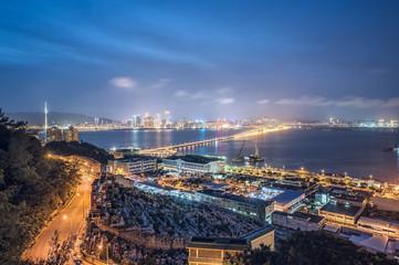 Night View of Suburb area of Macau