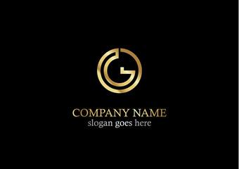 gold round letter g logo